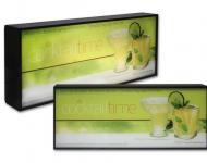 Caja de luz con gráfica personalizada