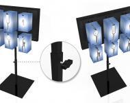Expositor Totem formato blister altura regulable (Telescópico)